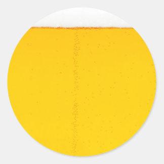 beer texture beverage alcohol drink pattern round sticker