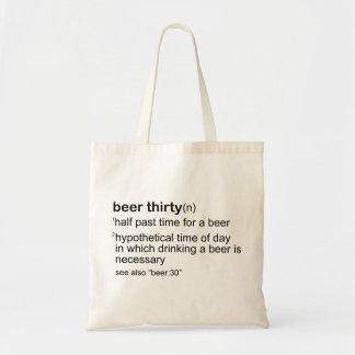 Beer Thirty Budget Tote Bag