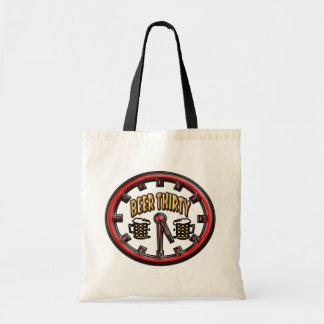 """""""Beer Thirty"""" Clock Tote Bag"""