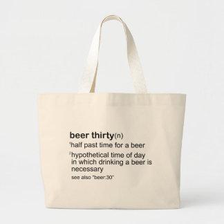 Beer Thirty Jumbo Tote Bag