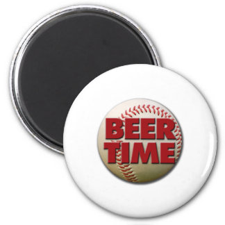 beer time 6 cm round magnet