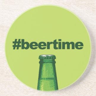 Beer Time Beverage Coasters