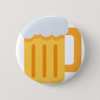 Beer time emoji 6 cm round badge