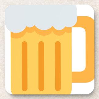 Beer time emoji beverage coasters