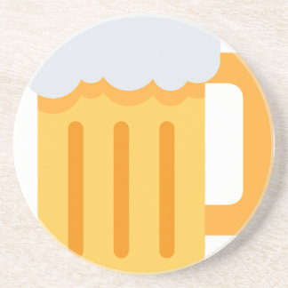 Beer time emoji coasters