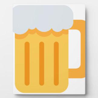 Beer time emoji plaque