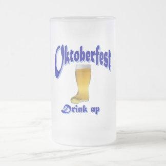 beer time frosted glass beer mug