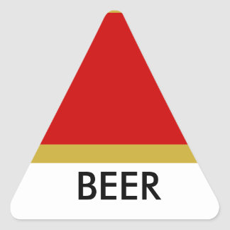 BEER triange sticker