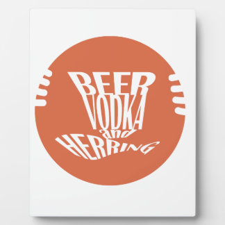 beer vodka and herring photo plaques