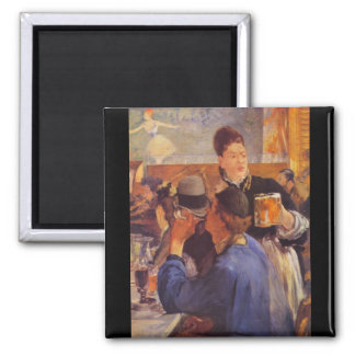 Beer Waitress by Edouard Manet Square Magnet