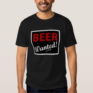 Beer Wanted T Shirt