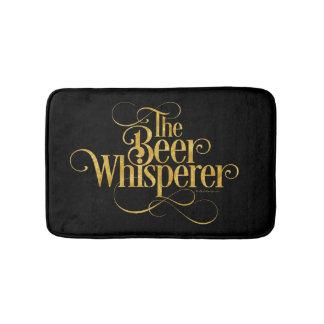 Beer Whisperer (gold) Bath Mats