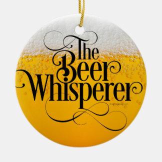 Beer Whisperer Round Ceramic Decoration