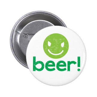 beer with crazy face pins