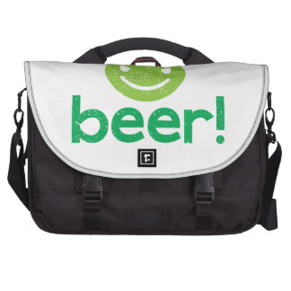 beer! with crazy face commuter bag