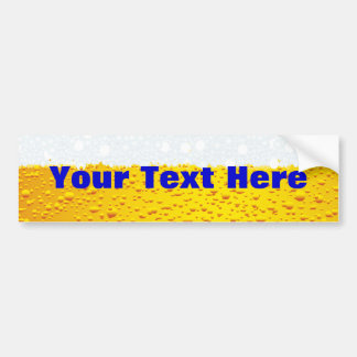 Beer with customized text bumper sticker