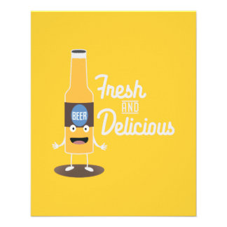Beerbottle fresh and delicious Zdm8l 11.5 Cm X 14 Cm Flyer