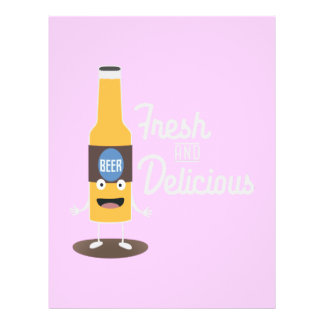 Beerbottle fresh and delicious Zdm8l 21.5 Cm X 28 Cm Flyer