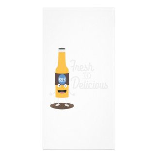 Beerbottle fresh and delicious Zdm8l Custom Photo Card