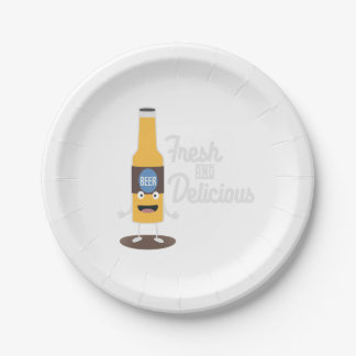 Beerbottle fresh and delicious Zdm8l Paper Plate