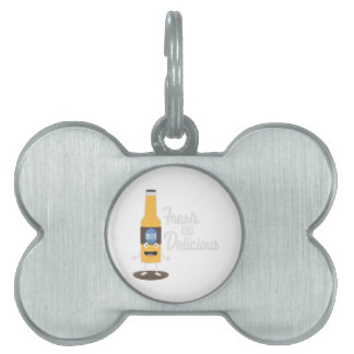 Beerbottle fresh and delicious Zdm8l Pet ID Tag