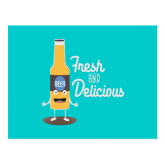 Beerbottle fresh and delicious Zdm8l Postcard