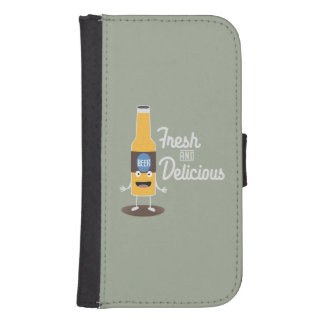 Beerbottle fresh and delicious Zdm8l Samsung S4 Wallet Case