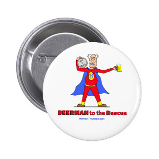 Beerman to the Rescue Beer is Good Pin