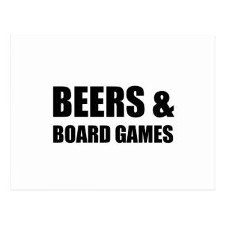 Beers And Board Games Postcard