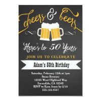 30th birthday invitations announcements zazzle beers and cheers birthday invitation 30th 40th etc filmwisefo Images