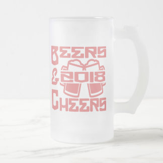 Beers & Cheers 2018 Frosted Glass Beer Mug
