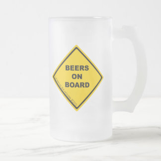 Beers on Board Frosted Glass Mug