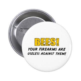 Bees 6 Cm Round Badge