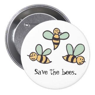Bees 7.5 Cm Round Badge