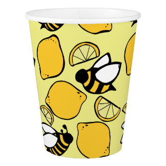 Bees and Lemons for Lemonade Paper Cup