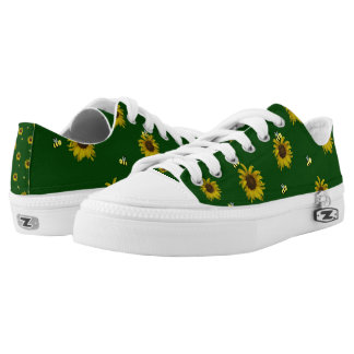 Bees and Sunflowers Printed Shoes