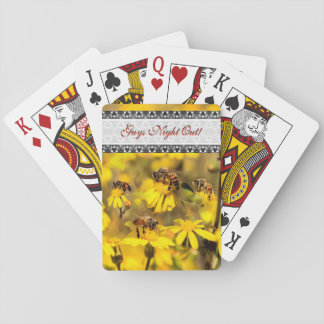 Bees and yellow flowers poker deck