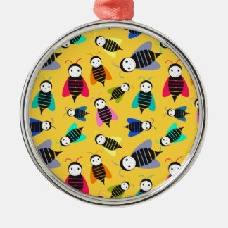 bees animal pattern metal ornament