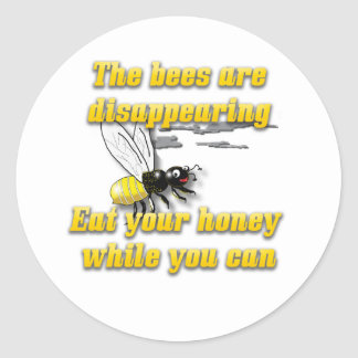 Bees Are Disappearing Classic Round Sticker