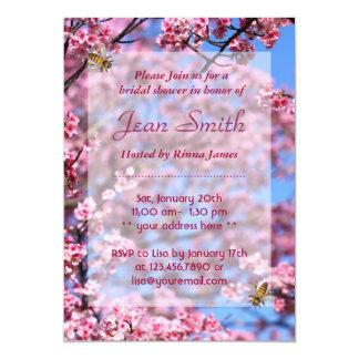 Bees & Cherry Blossom Bridal Shower Invitation