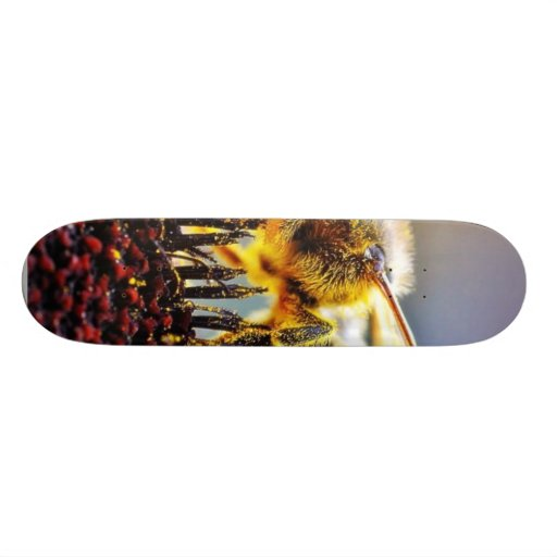 Bees Collecting Pollen Skate Boards