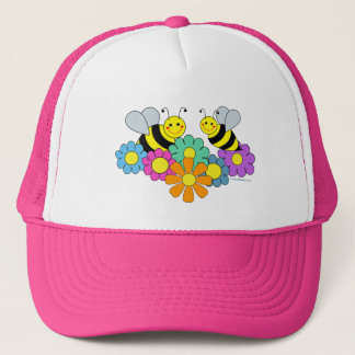 Bees & Flowers Trucker Hat