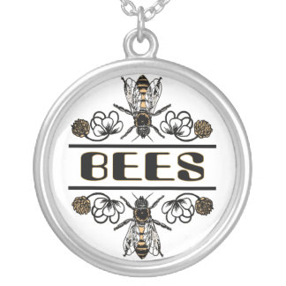 Bees In Clover Custom Necklace