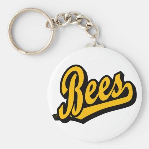 Bees in Orange Key Chain