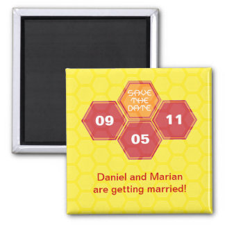 Bee's Knees Yellow Save the Date Magnet