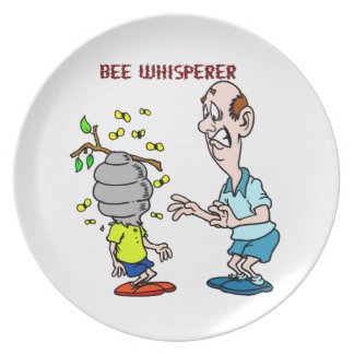 Bees Lovers Bee Whisperer Bumblebee Plate
