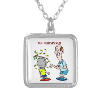 Bees Lovers Bee Whisperer Bumblebee Silver Plated Necklace