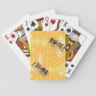 Bees On Honeycombs Playing Cards