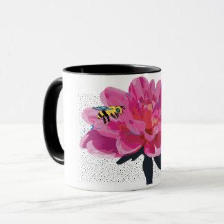 Bees on to flower mug