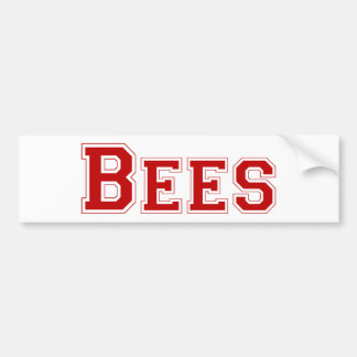 Bees square logo in red bumper sticker